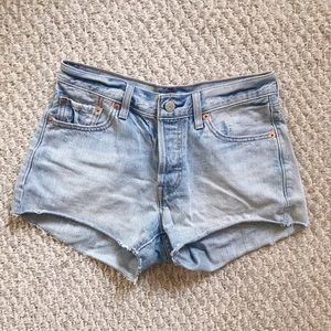 Levi's 501 button fly cut off denim shorts